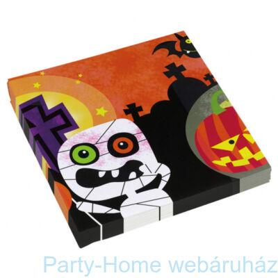 Friendly Mummy Szalvéta Halloweenre - 33 cm x 33 cm, 16 db-os