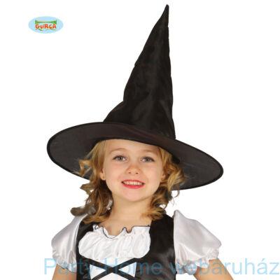 Fekete Fényes Boszorkány Kalap gyerek méret