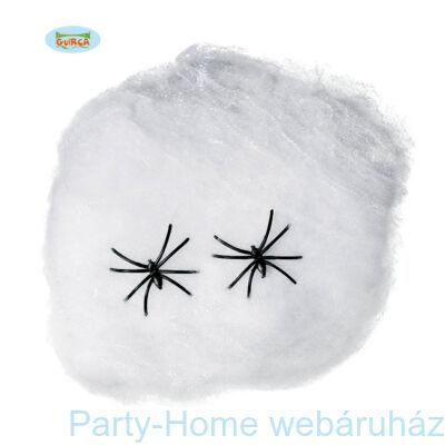 Fehér Pókháló 2 db. Pókkal 40 gramm