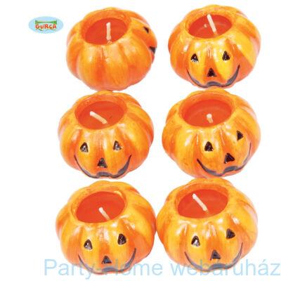 Vicces Halloween Tök Gyertya Szett - 4 db-os