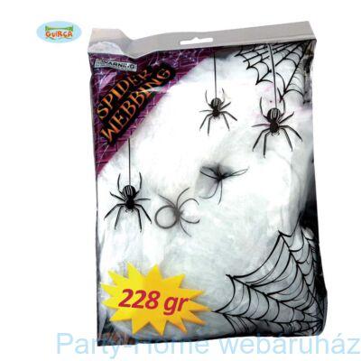 Nagy Fehér Pókháló 10 db. Pókkal 228 gramm