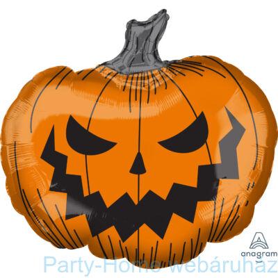 29 inch-es Halloween Pumpkin SuperShape Fólia Lufi