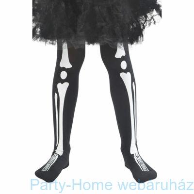 Fekete Csontváz Mintájú Harisnya Gyerekeknek