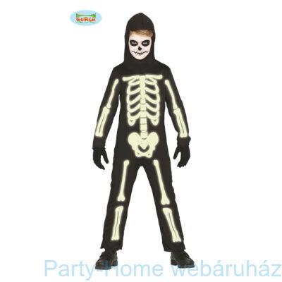 Glow In The Dark Világítós Csontváz Jelmez Gyerek 5 - 6 éveseknek