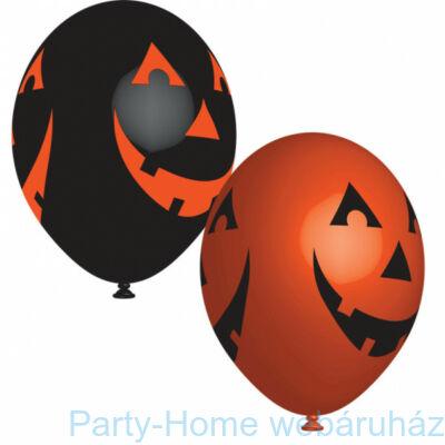 11 inch-es Smiling Pumpkin Halloween Mintás Lufi 6 db-os