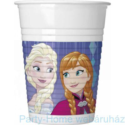 Frozen Snowflakes- Jégvarázs Parti Pohár - 200 ml, 8 db-os