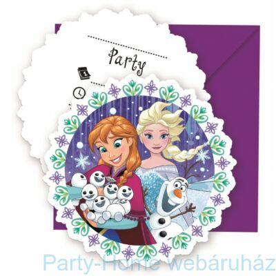 Frozen Snowflakes- Jégvarázs Parti Meghívó - 6 db-os