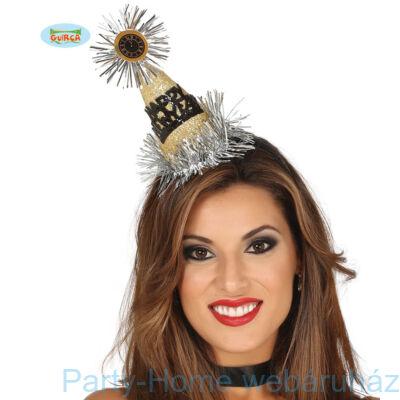 Arany-Fekete Flitteres Happy New Year Csákó Hajráfon