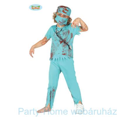 Kék Véres Zombie Műtősfiú Jelmez 7-10 éveseknek