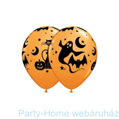 Fun and Spooky Icons Halloween Mintás Lufi