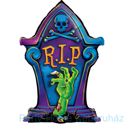R.I.P. Tombstone Sírkő Mintás Fólia Lufi Halloweenre