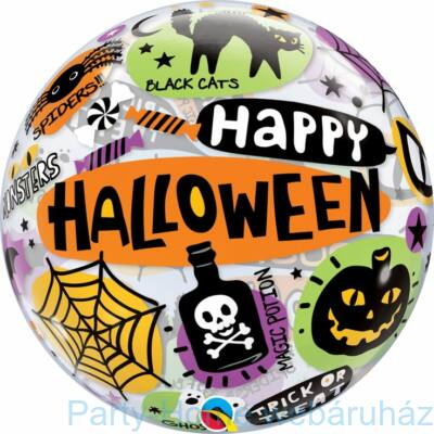 22 inch-es Halloween Message & Icons Bubble Lufi