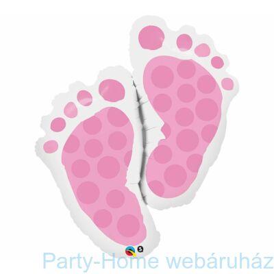 35 inch-es Baby Feet Pink Super Shape Fólia Lufi