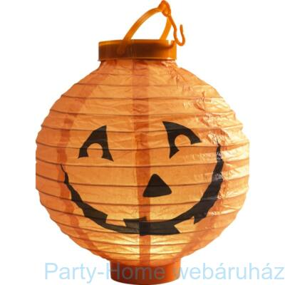 Narancssárga Tök Világító Gömb Lampion - 20 cm