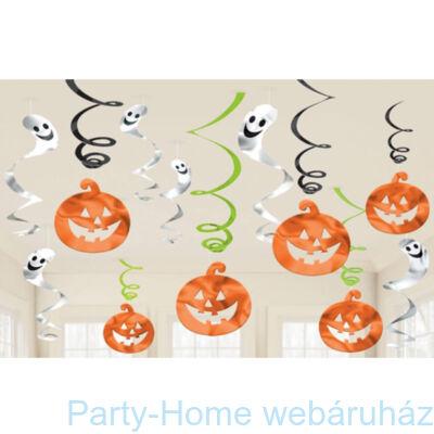 Tökfejes Spirális Függő Dekoráció Halloweenre