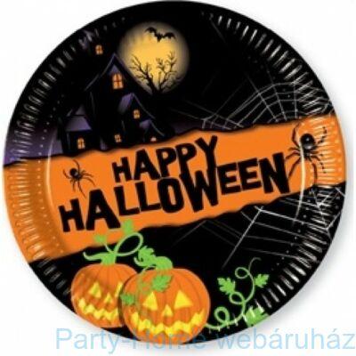 Happy Halloween Tökös tányér - 23 cm, 8 db-os