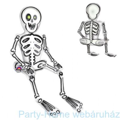 Ülő Csontváz Levegős Fólia Lufi Halloween-re