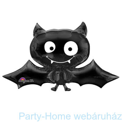 Black Bat Denevér Mini Shape Fólia Lufi pálcás