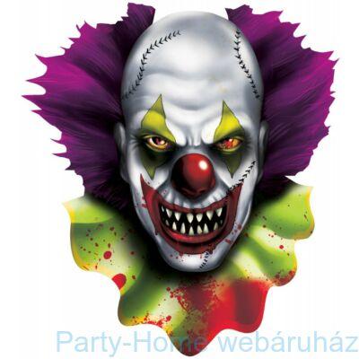 Creepy Carnival Ijesztő Bohóc Karton Dekoráció Halloweenre