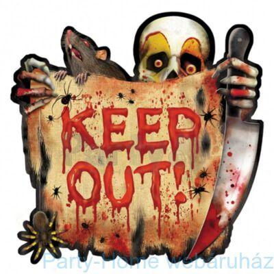 Creepy Carnival Keep Out! Halloween Karton Dekoráció
