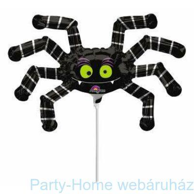 Csíkos Fekete Pók Mini Shape Pálcás lufi