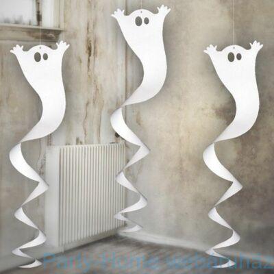 Fehér Szellem Spirális Halloween Dekoráció