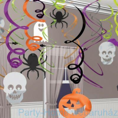 Halloween Spirális Függő Dekoráció