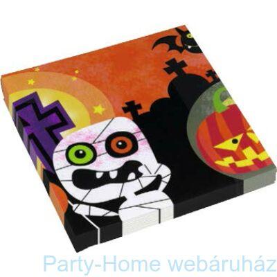 Happy Halloween Monster szalvéta - 33 cm, 20 db-os