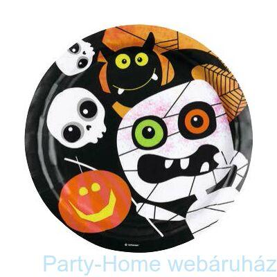 Happy Halloween Boo-s tányér - 23 cm, 8 db-os