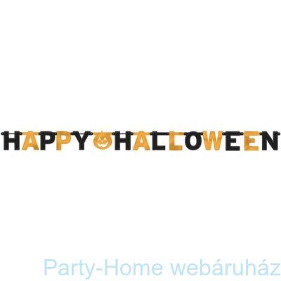 Happy Halloween Tökös Óriás Betűfüzér, fényes