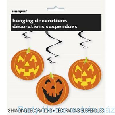 Tökfejek Spirális Függő Dekoráció Halloweenre