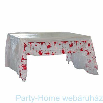 Véres Kézlenyomat Party asztalterítő Halloween-re - 135 x 275 cm