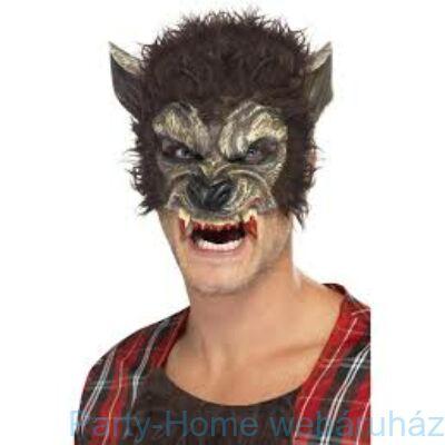 Szőrös Farkasember Maszk Fogakkal
