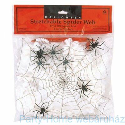 Pókháló 4 db Pókkal