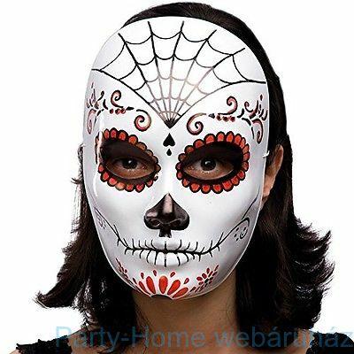 Pókhálós Színes Maszk Halloweenre