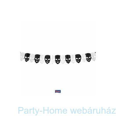 Koponya Formájú Dekorációs Mini Parti Füzér