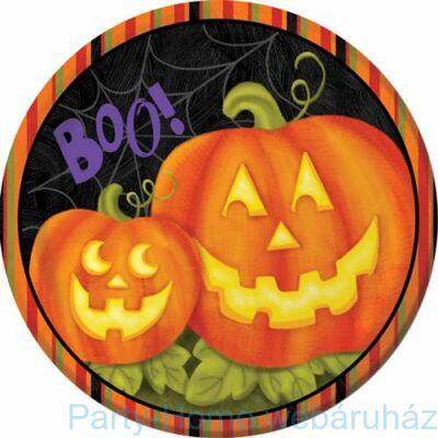 Boo - Tökös Halloween tányér - 23 cm, 8 db-os