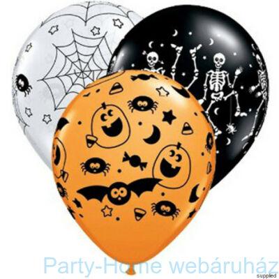 11 inch-es Spooky Assortmen Halloween Mintás Lufi
