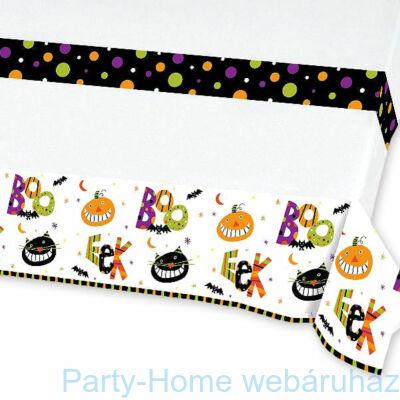 Boo papír asztalterítő Halloweenre 137 x 213 cm