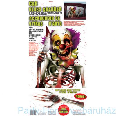 Creepy Carnival - Ijesztő Bohóc Ablak Dekoráció 60 x 30 cm