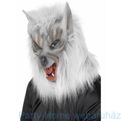 Ezüst Szőrös Farkas Maszk