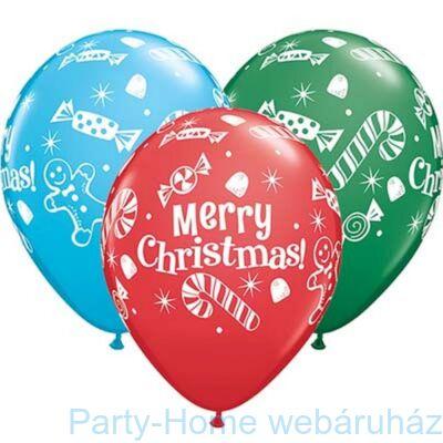 11 inch-es Christmas Candies & Treats Karácsonyi Lufi 1 db