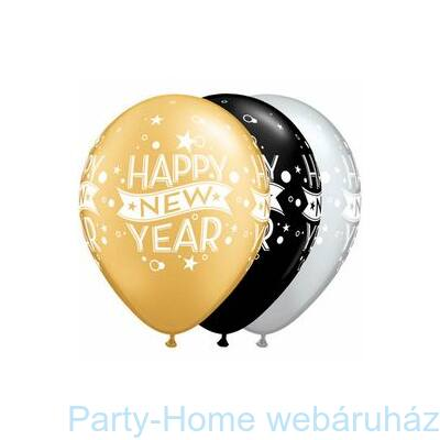 New Year Confetti Dots Szilveszteri Lufi