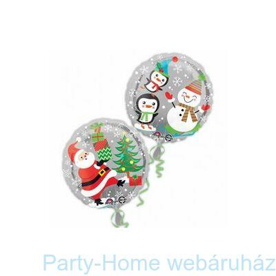 Santa, Snowman & Penguins Karácsonyi Fólia Lufi