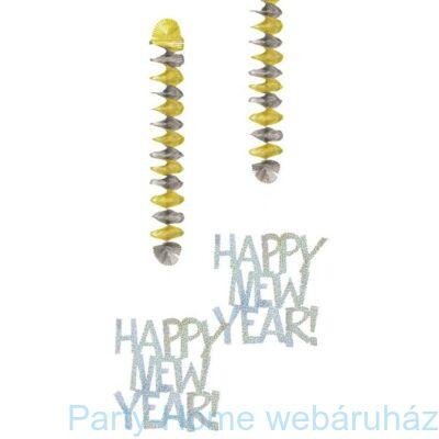 Happy New Year Szilveszteri Függő Dekoráció - 76 cm, 2 db-os