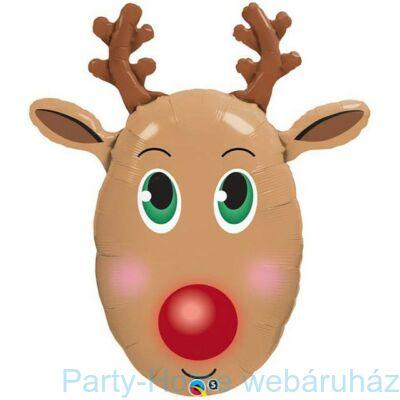 36 inch-es Red-Nosed Reindeer - Rénszarvas Karácsonyi Fólia Lufi