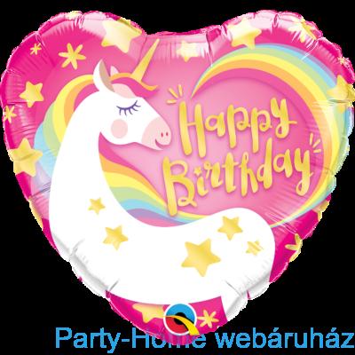 18 inch-es Birthday Magical Unicorn Fólia Lufi Segítség