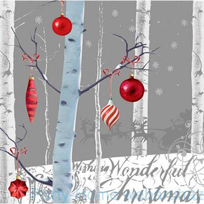 - White Winter - Hiver Blanc Szalvéta - 33 cm x 33 cm, 16 db-os