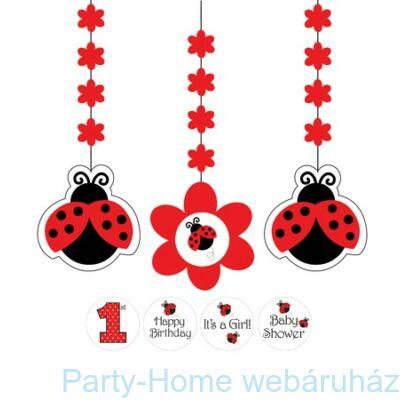 Katica Party - Katica Mintás Számozható Függő Dekoráció - 91 cm, 3 db-os