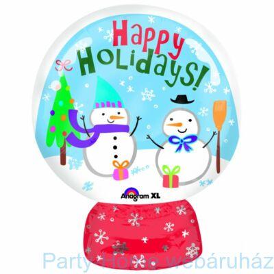 Snow Globe - Hógömb Karácsonyi Junior Shape Fólia Lufi